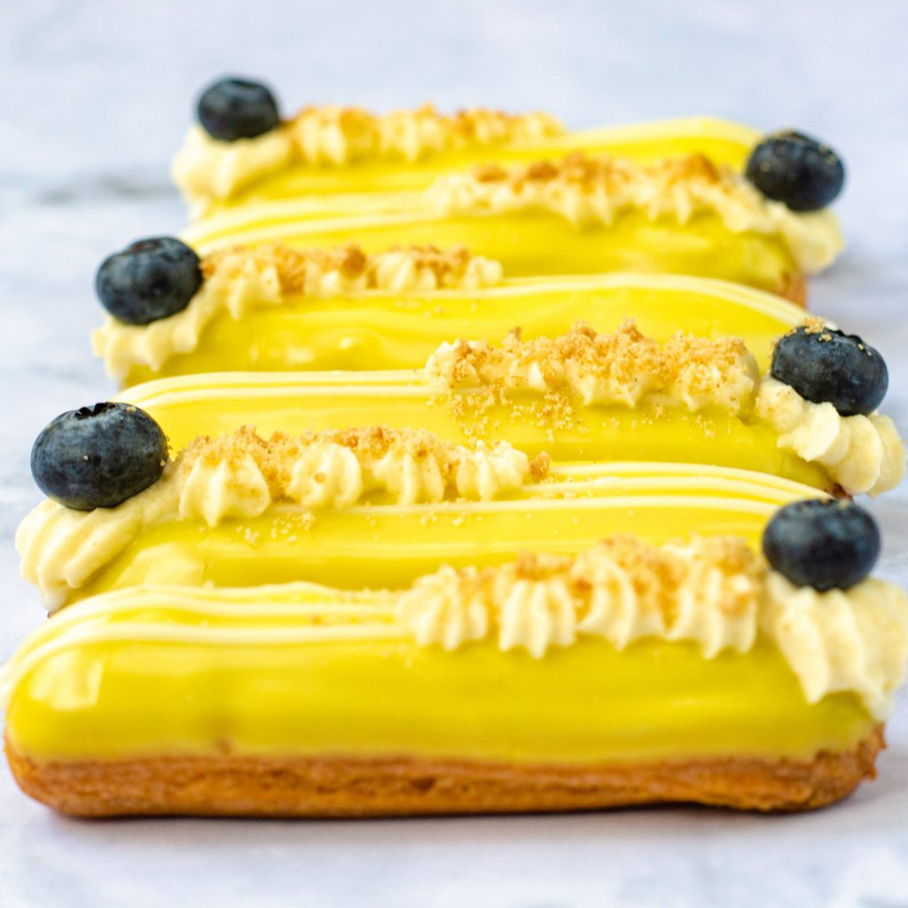 Lemon Cheesecake Eclairs